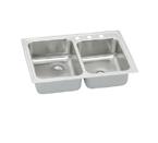 Elkay Pacemaker PSR250 Topmount Double Bowl Stainless Steel Sink