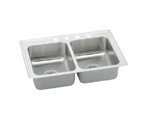 Elkay Pacemaker PSR3321 Topmount Double Bowl Stainless Steel Sink