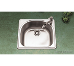 Houzer RMS-2522 Topmount Single Bowl Stainless Steel Sink