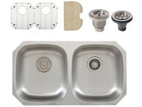 Ticor S205 Undermount 16-Gauge Stainless Steel Kitchen Sink + Accessories