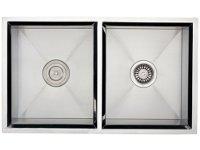 Ticor S308 Undermount 16-Gauge Stainless Steel Kitchen Sink With Free Deluxe Strainer & Basket Strainer