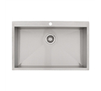 Ticor S7510 Overmount 16-Gauge Stainless Steel Sink With Free Deluxe Strainer
