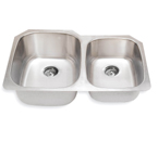 Suneli SM503R-16 16 Gauge Undermount Double Bowl Stainless Steel Sink