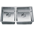 Dawn SRU301616L Undermount Small Radius Double Bowl Stainless Steel Sink