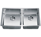 Dawn SRU301616R Undermount Small Radius Double Bowl Stainless Steel Sink