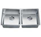 Dawn SRU331616 Undermount Small Radius Equal Double Bowl Stainless Steel Sink