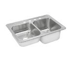 Elkay Celebrity STCR3322 Topmount Double Bowl Stainless Steel Sink