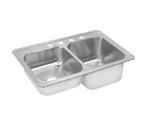 Elkay Celebrity STCR3322 Topmount Double Bowl Stainless Steel Sink