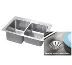 Elkay Perfect Drain STLR3322LPD Topmount Double Bowl Stainless Steel Sink