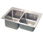 Elkay Lustertone STLR4322 Topmount Double Bowl Stainless Steel Sink