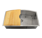 Ticor TR2220 Undermount 16 Gauge Stainless Steel Kitchen Sink With Free Strainer/Rinse Grid