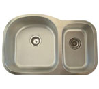 Alpha International U-321B-16 Undermount 70/30 Double Bowl Stainless Steel Sink