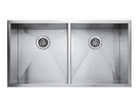 Fluid UD3720 Undermount Double Bowl Stainless Steel Kitchen Sink