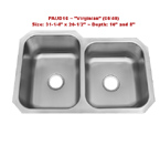 Patriot PAUD16 Virginian 60/40 Undermount Double Bowl Stainless Steel Sink