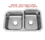 Patriot PAUD16R West Virignian 60/40 Undermount Double Bowl Stainless Steel Sink