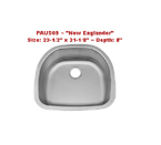 Patriot PAUS09 New Englander Undermount Single Bowl Stainless Steel Sink