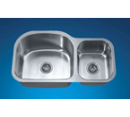 Dawn ASU107R Undermount Double Bowl Stainless Steel Sink
