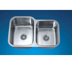 Dawn ASU108R Undermount Double Bowl Stainless Steel Sink
