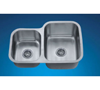 Dawn ASU110L Undermount Double Bowl Stainless Steel Sink