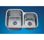 Dawn ASU110R Undermount Double Bowl Stainless Steel Sink