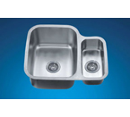 Dawn ASU111R Undermount Double Bowl Stainless Steel Sink