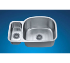 Dawn ASU112L Undermount Double Bowl Stainless Steel Sink