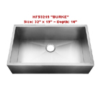 Homeplace Burke HFS3219 Single Bowl Stainless Steel Sink