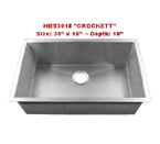 Homeplace Crockett HBS3018 Single Bowl Stainless Steel Sink