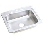 ELKAY 25X22 Dayton 3H Select SINK STAINLESS DJ125223