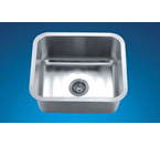 Dawn DSU1916 Undermount Single Bowl 16 Gauge Stainless Steel Sink