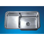 Dawn DSU3018 Undermount Single Bowl with Stepped Basin Stainless Steel Sink