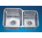 Dawn DSU301916R Undermount Double Bowl Stainless Steel Sink