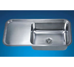 Dawn DSU4120 Undermount Single Bowl with Work Surface Stainless Steel Sink