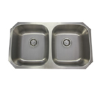 "32"" Stainless Steel Double Bowl Undermount Sink 50/50 PY-PSI002"