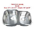 Futura Invicta 60/40 FA108 Double Bowl Stainless Steel Kitchen Sink