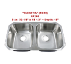 Futura Electra 50/50 FA208 Double Bowl Stainless Steel Kitchen Sink