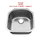 Futura Elgin FA3305 Single Bowl Stainless Steel Kitchen Sink