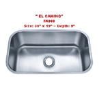 Futura El Camino FA868 Single Bowl Stainless Steel Kitchen Sink