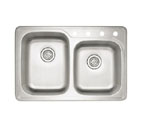 "Blanco Spex II 1-3/4"" Drop-In Double Bowl Sink"