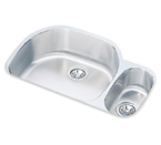Elkay 32x21 Undermount Double Bowl Sink ELUH3221R