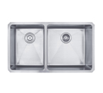 Kraus 33 Inch Undermount 60/40 Double Bowl 16 Gauge Stainless Steel Kitchen Sink KHU104-33