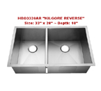 Homeplace Kilgore Reverse HBO3320AR Double Bowl Stainless Steel Sink