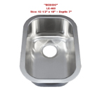 Leonet Bebido LE-465 Single Bowl Stainless Steel Kitchen Sink