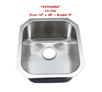 Leonet Verdura LE-535 Single Bowl Stainless Steel Kitchen Sink