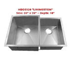 Homeplace Livingston HBO3320 Double Bowl Stainless Steel Sink