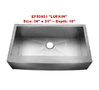Homeplace Lufkin EFS3021 Single Bowl Stainless Steel Sink