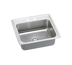 Elkay Pacemaker 25x22 2 Hole Single Bowl Sink PSR25222