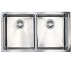 Sonetto S1063U 1000 Series Zero Radius Undermount Double Bowl Stainless Steel Sink