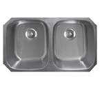 Sonetto S163U Undermount Double Bowl Stainless Steel Sink
