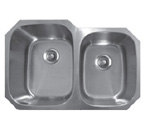 Sonetto S173U Undermount Double Bowl Stainless Steel Sink
